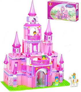 เลโก้ lego ปราสาทเจ้าหญิง สีชมพู b0152