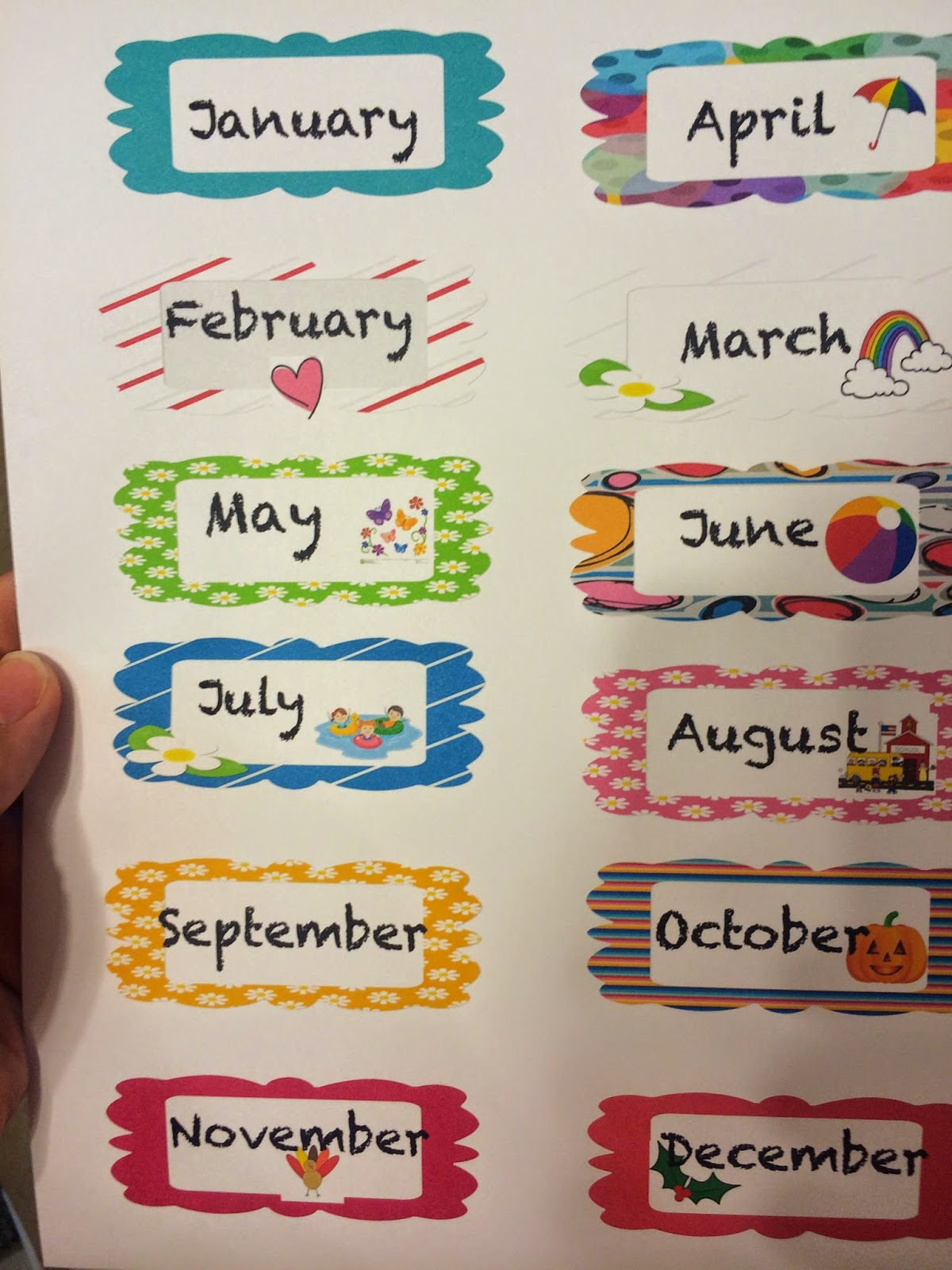 One Sweet World In First Months Of The Year For A Birthday Chart