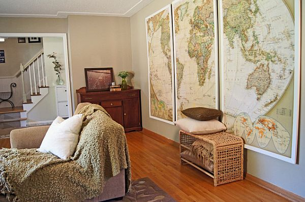 How To Decorate Your Wall With A Old Maps Decorate Interior Home - Frames for old maps