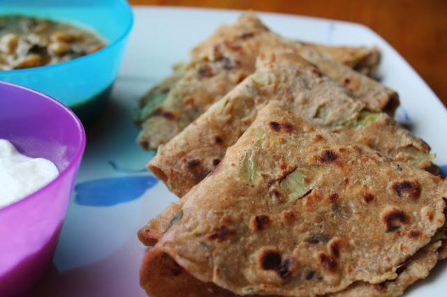cabbage paratha/ patta gobi parantha/ cabbage tortillas