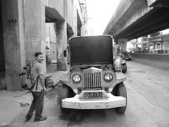 PM posing with a jeepney