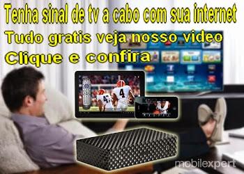 Sinal de tv a cabo com sua internet