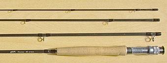Die vier Teile der BFC Fliegenrute