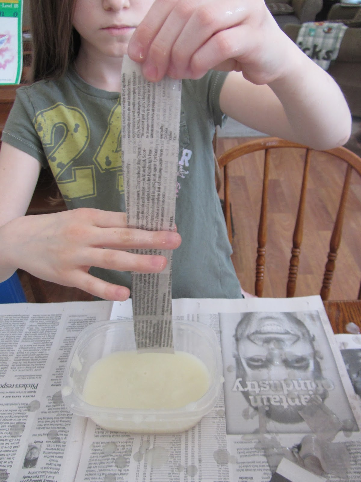 The unlikely homeschool greece unit how to make a for How do you make paper mache glue at home