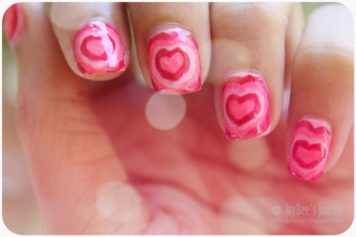 valentine's day nail art powerpuff girls heart tutorial, pakistani nail art, pakistani beauty nail art book blog,