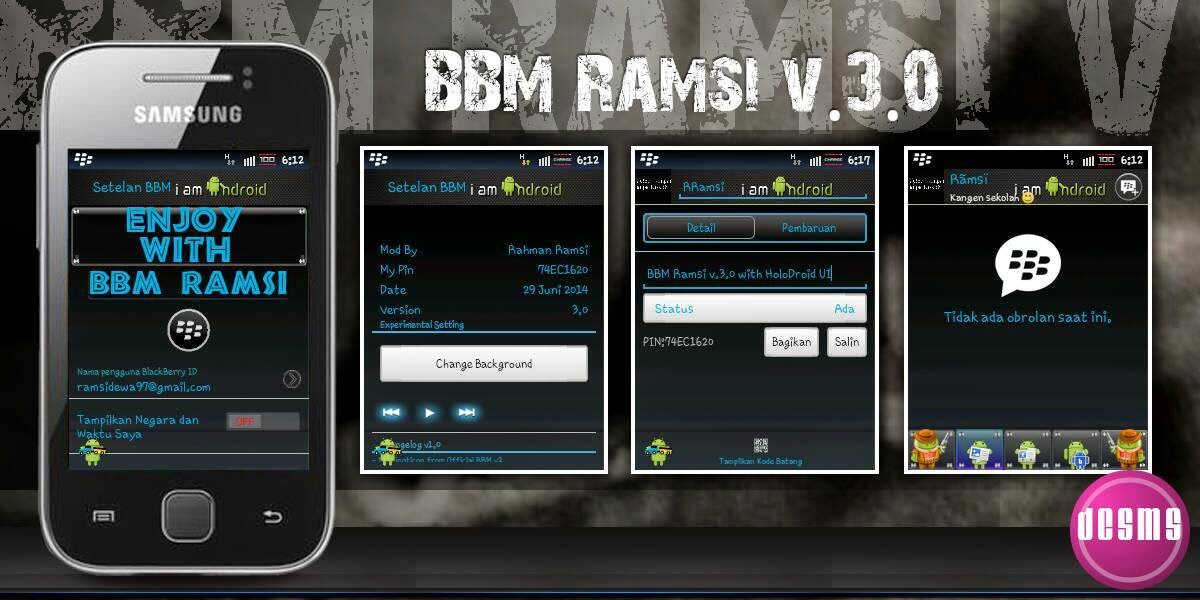 BBM Mod Ramsi V.3 Change Cover For Android Gingerbread
