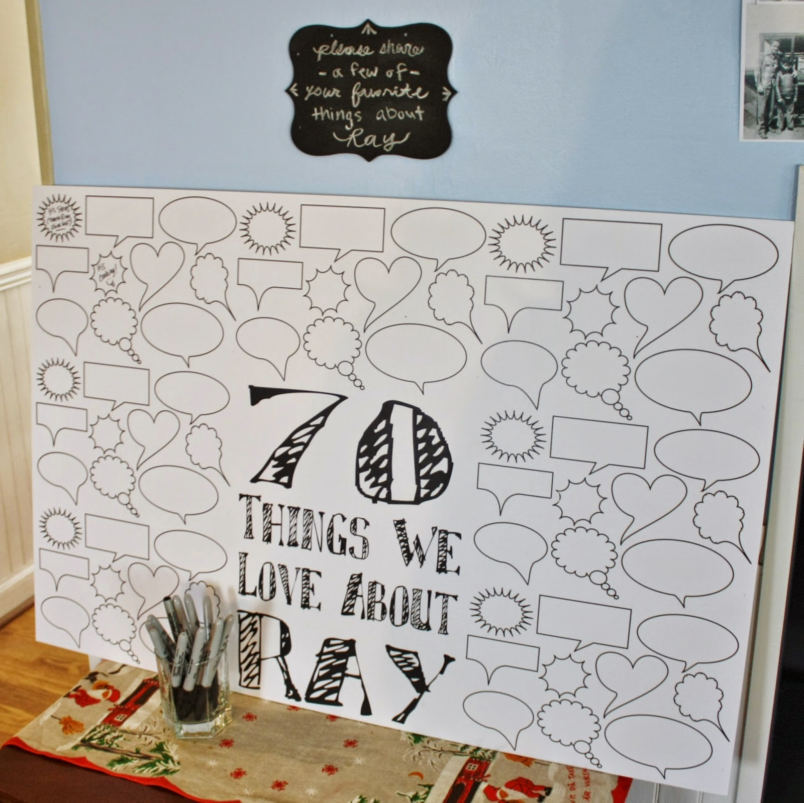 Fab everyday because everyday life should be fabulous for Decoration 70th birthday