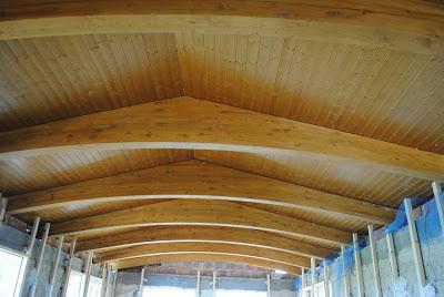 Tejado de madera, aislamiento de corcho natural