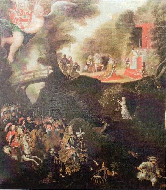 Германия, история, легенда, тысячелетняя роза, Хильдесхайм, Людовик Благочестивый
