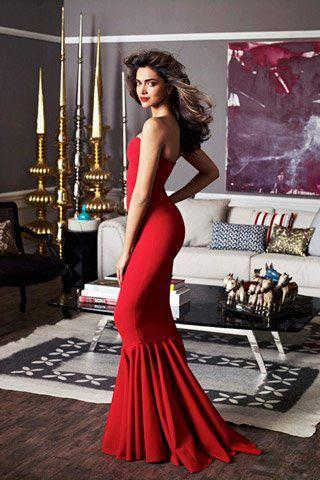 Deepika Padukone Hot Red Gown Architectural Digest  -  Deepika Padukone Architectural Digest hot Pics (March 2012)