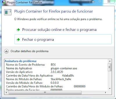 Erro BEX No Windows 7 Imagem