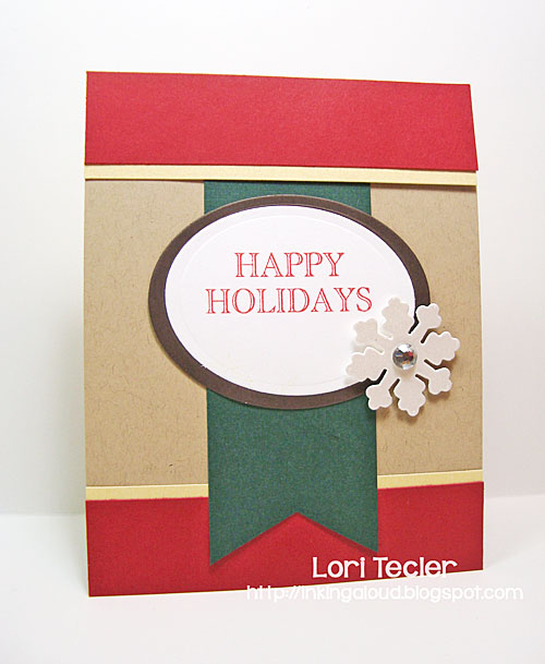 Happy Holidays card-designed by Lori Tecler/Inking Aloud-stamps from Clear and Simple Stamps