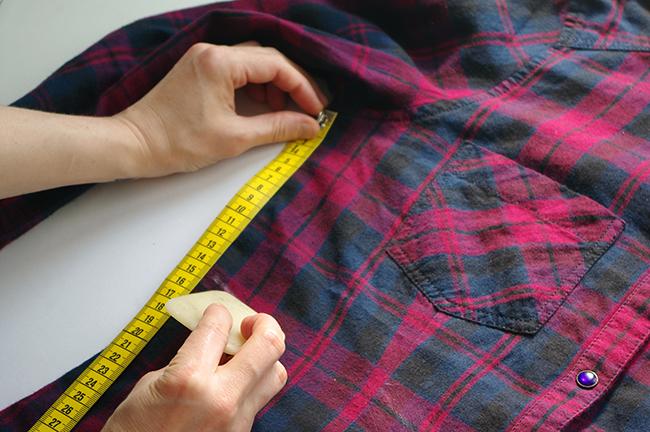 How to turn a casual shirt into a feminine Empire dress. www.fashionrolla.com