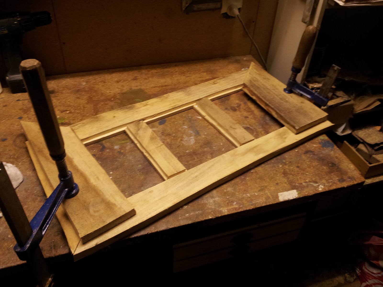 alter Holzrahmen (groß) mit 3 Ausschnitten für 13x18 cm | Igerskys Werke