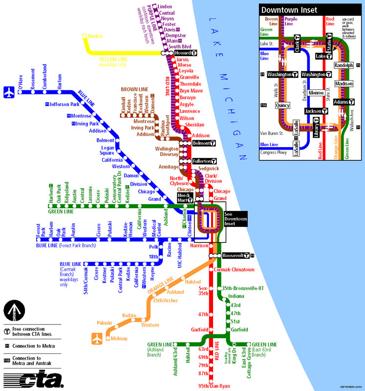 Chicago L subway map http://3. ...