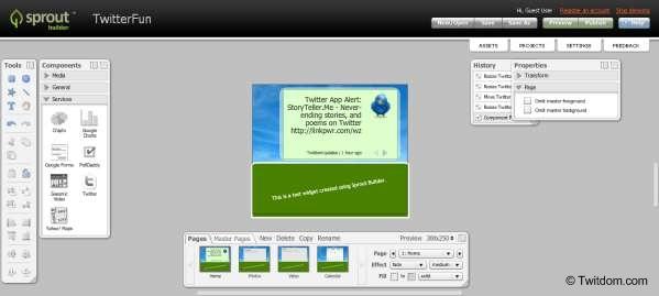 Sprout Builder Online Flash Application Builder