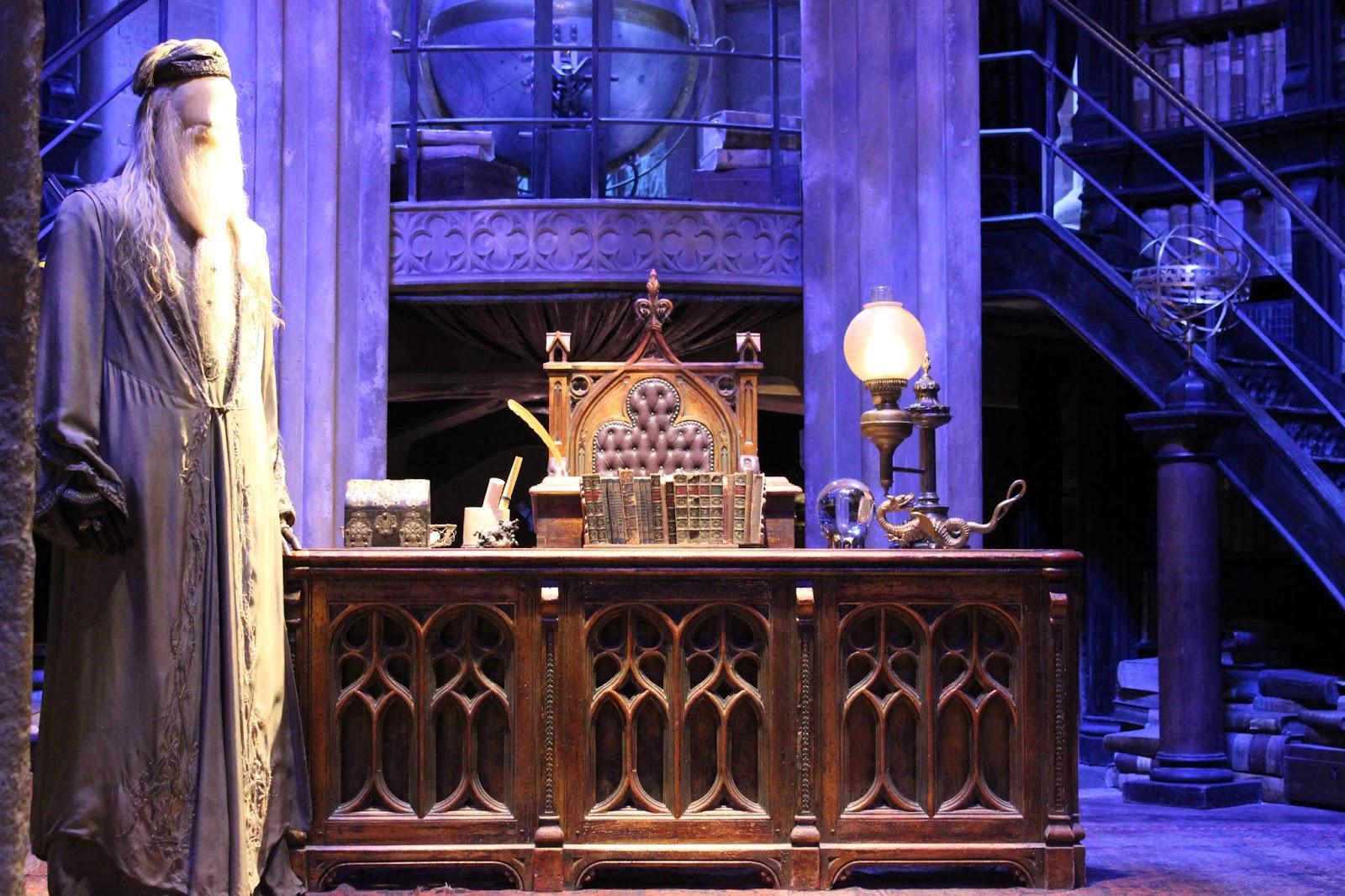 Harry Potter studio tour london Dumbledore office