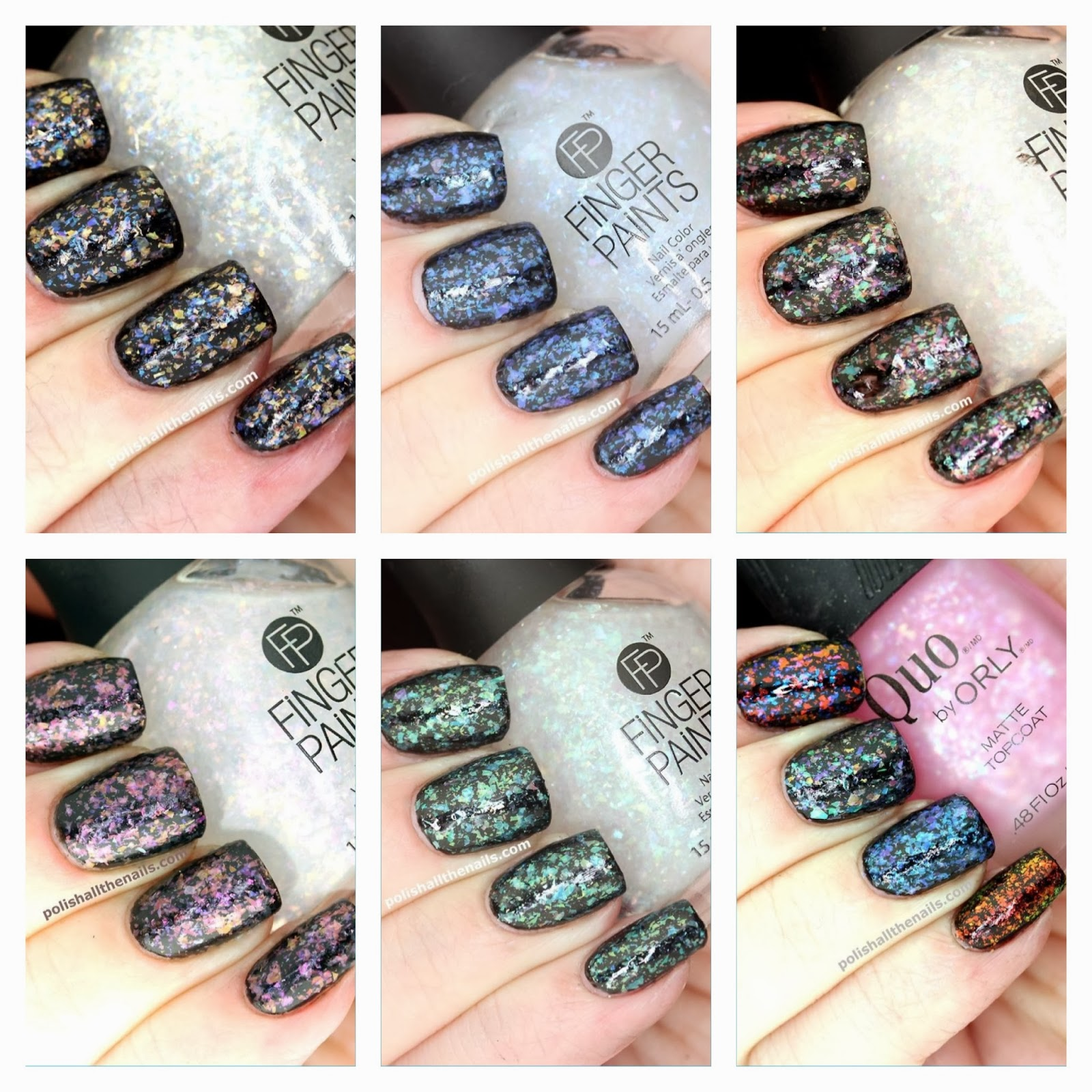Nail Art: Review: The New Finger Paints Flakies - The Kaleidescope ...