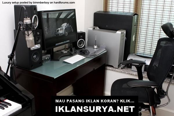 Markas Komputer Unik, Desktop Mewah Apple Mac PC + Audio