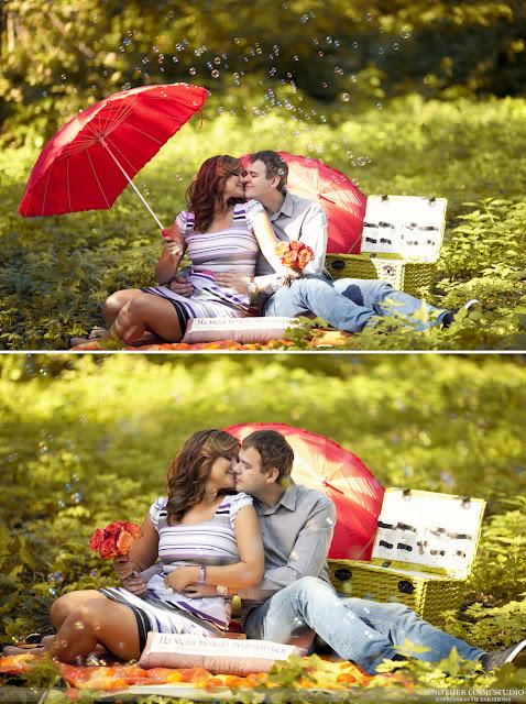 Красивые фотографии влюбленных на пикнике