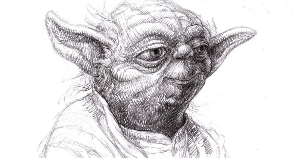 Line Drawing Yoda : Magellin yoda art