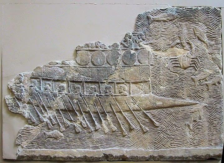 البحرية فى العصر الآشورى