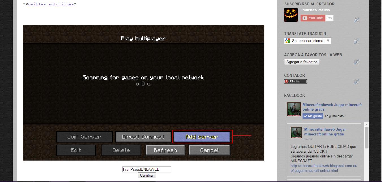 Como conectarse a un servidor de minecraft y jugar multiplayer ...