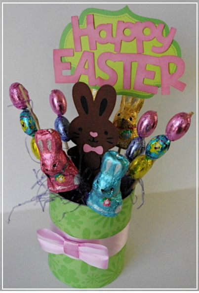 Creative quot try als easter candy bouquet