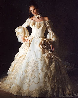 Enchanted serenity of period films vintage inspired gowns for Marie antoinette wedding dress