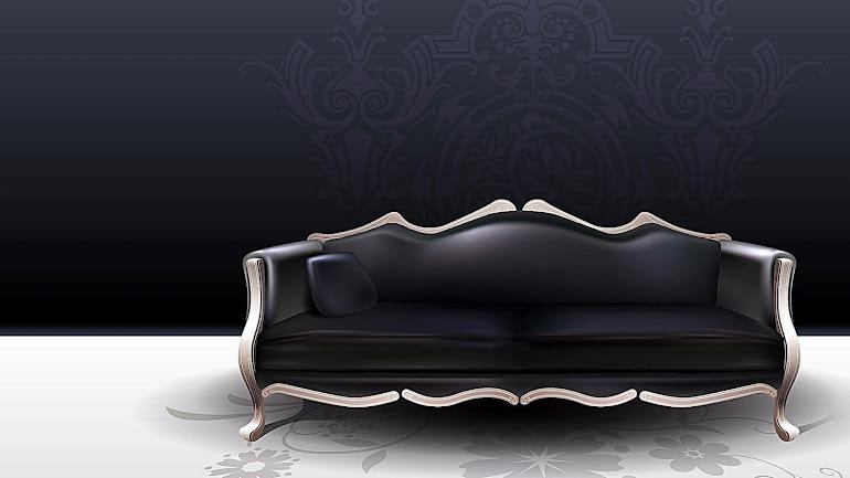 Interior Black Sofa