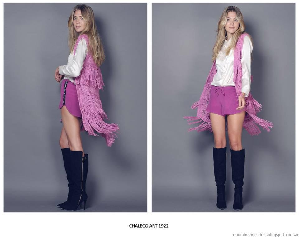 Chalecos invierno 2015 moda Agostina Bianchi.