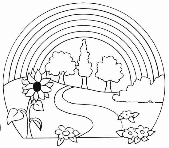 Fichas de Inglés para niños: Dibujos de la primavera para colorear !