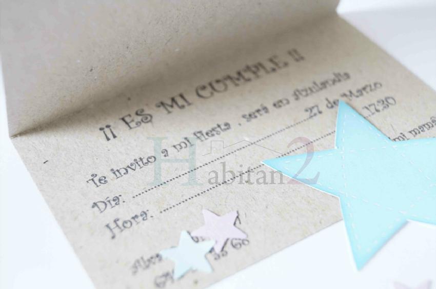 Diseño de invitación craft para cumpleaños by  Habitan2