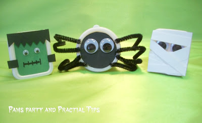 Halloween treat boxes that are perfect for a class party