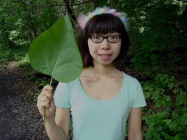 Hi I am a big leaf Be amazed