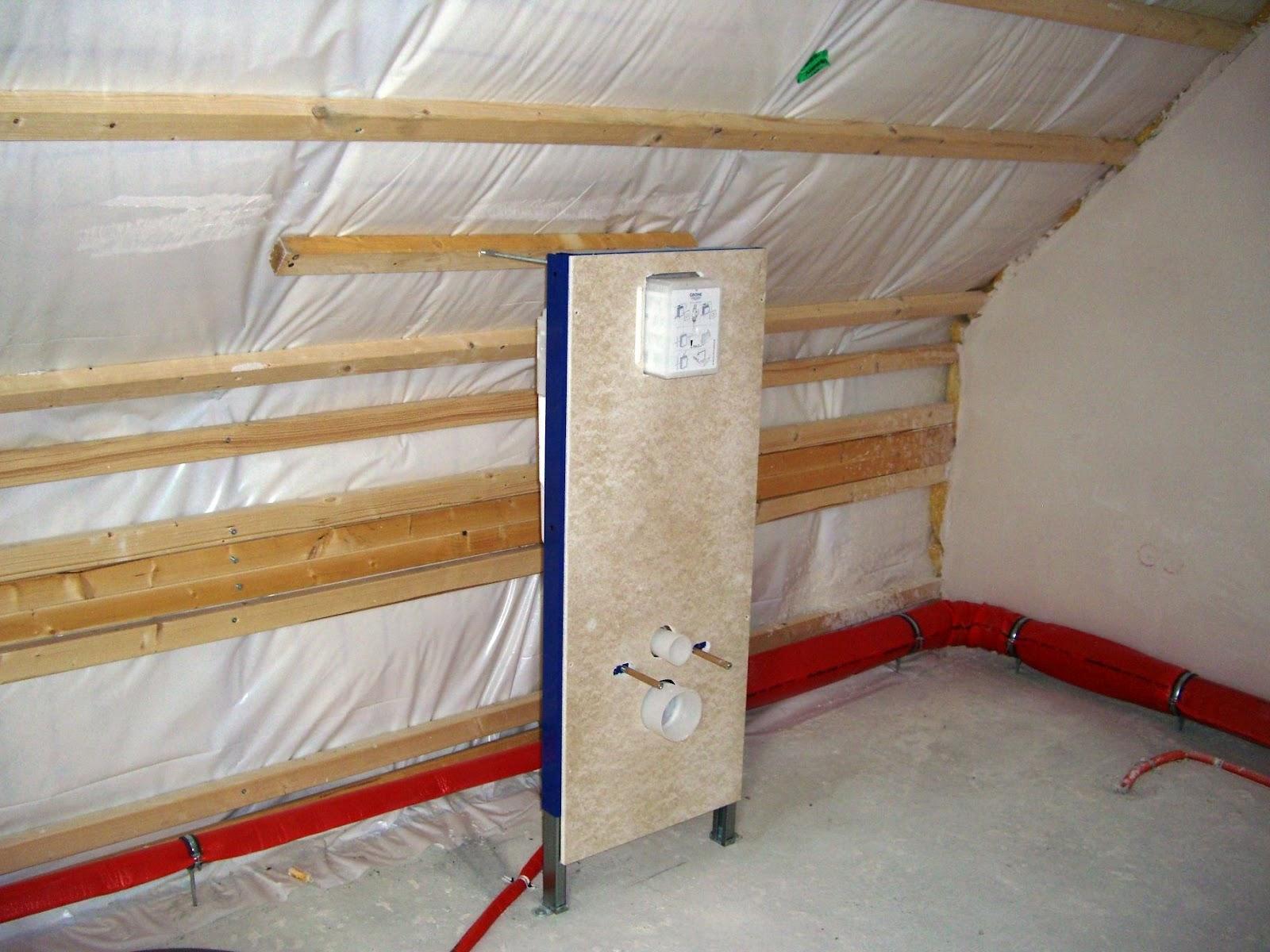 hausbau ak ds die sanit rrohinstallation ist fertig. Black Bedroom Furniture Sets. Home Design Ideas
