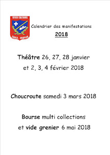 Calendrier manifestations 2018