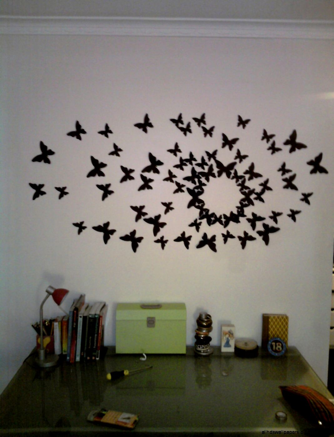 With Butterfly Wall Decor With  Img Wide