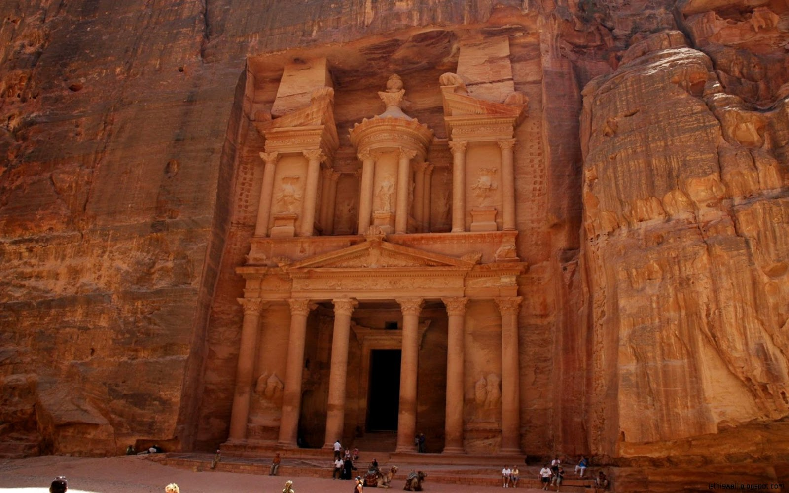 Inside the Treasury Petra Jordan