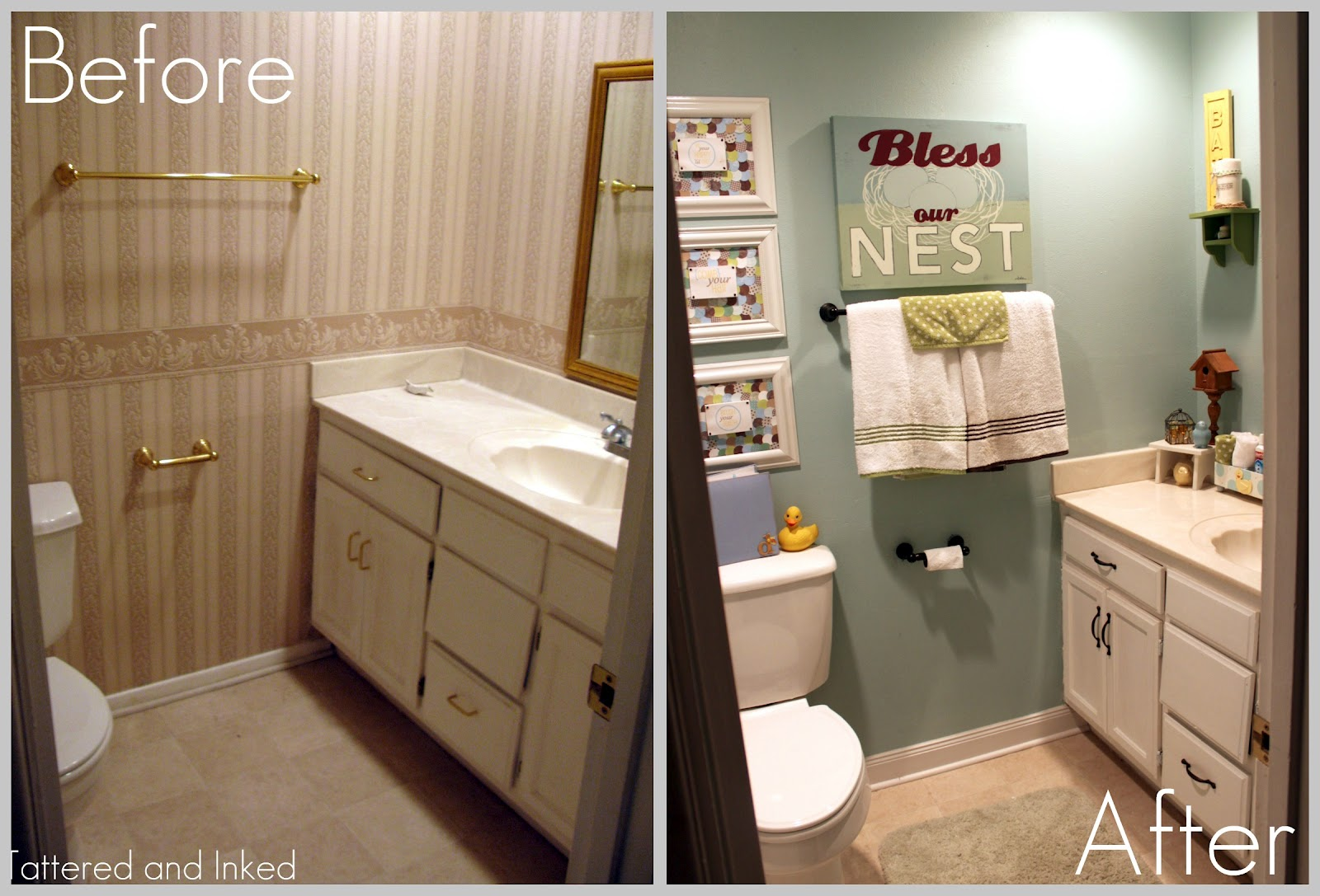 Tattered And Inked Kids Bathroom Makeover