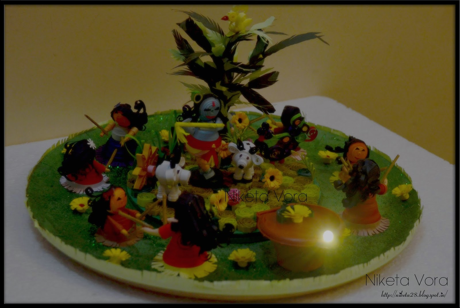 Niketa 39 s creative corner exclusively handmade designed for Aarti plate decoration