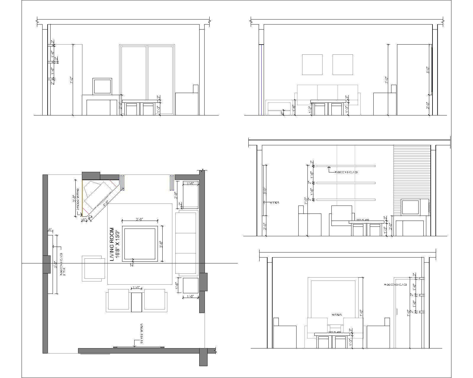 Front Elevation Of Drawing Room : Interior designing portfolio