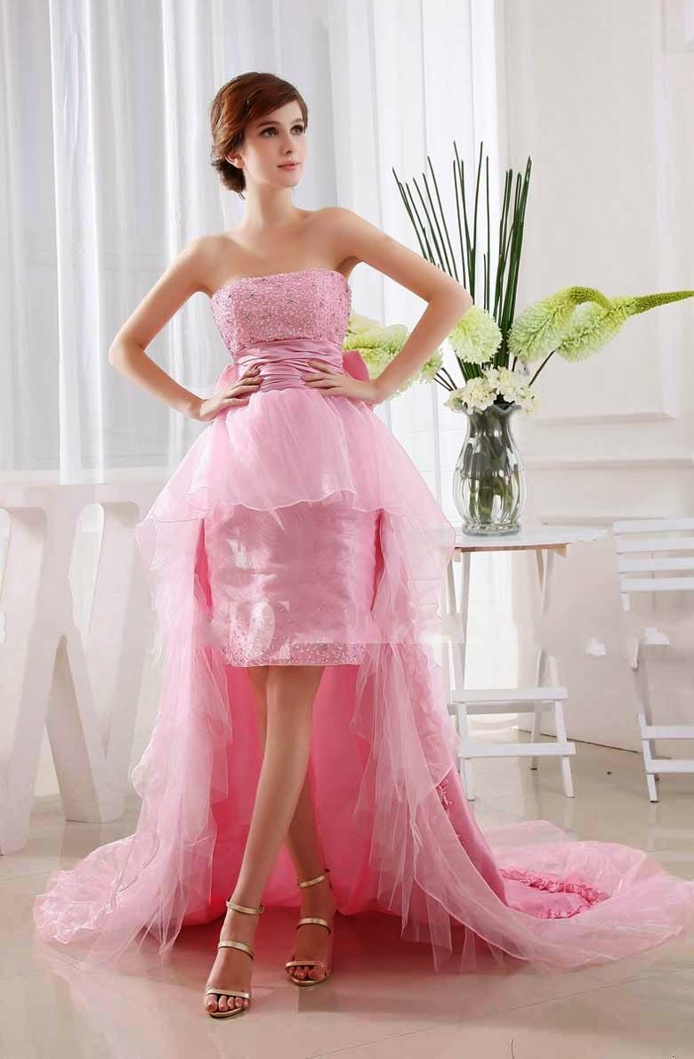 Wedding Dresses With Color Pink Photos Concepts Ideas