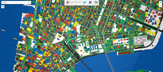 Maps mania lego maps of the world mapzens free vector tile service which complements their tangram webgl map renderer has also been used to create a lego map gumiabroncs Choice Image