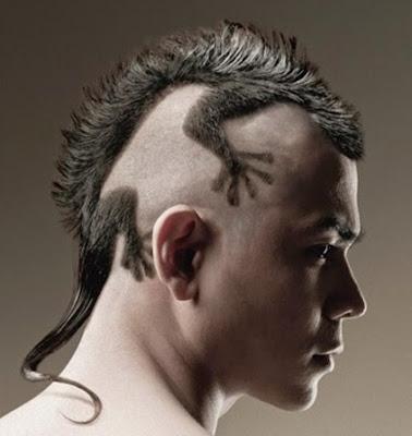 model potongan rambut pria model kadal