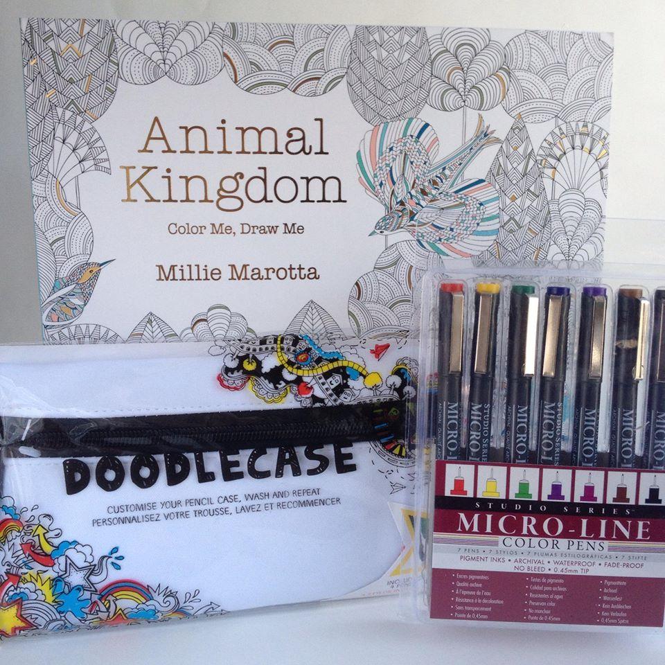 Color me draw me animal kingdom book - Coloring Book Set Giveaway