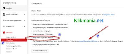 Mengaitkan Youtube Dengan Google Adsense Yang Berbeda Email