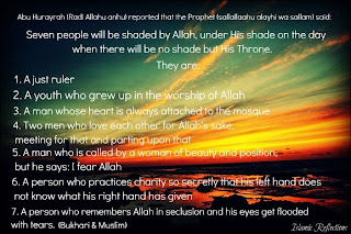 Ramadan hadith about blessings of ALLAH