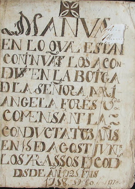 Llibre d'Aconductats dels apotecaris Forès