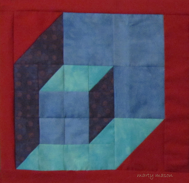 Chip out of every block in shades of blue....A Karen Combs design